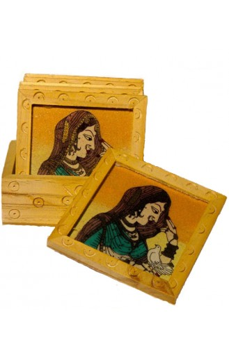 Jaipuri Painted Tea Coaster